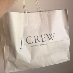 J crew shopping bag